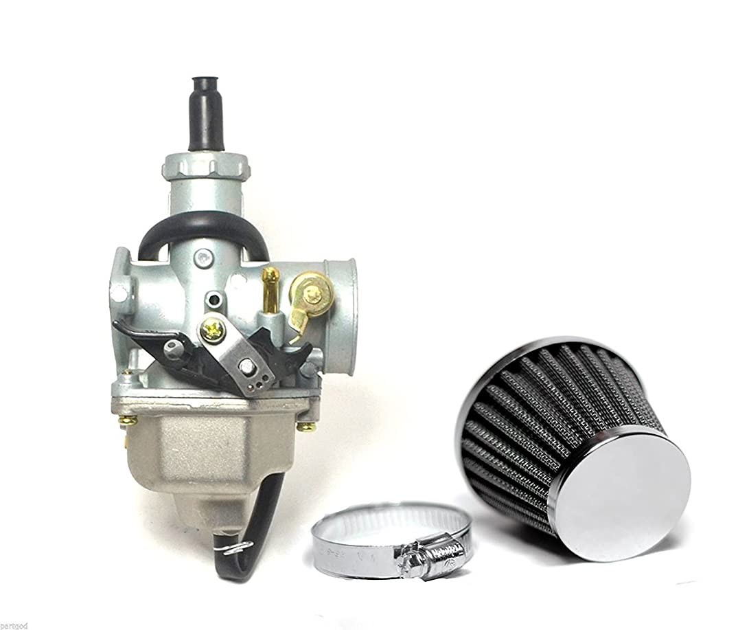 Auto-Moto Carburetor W/ Air Filter Throttle Cable For Honda XR100 XR100R CRF100F Carb