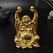PPCP Golden Laughing Buddha Statue Chinese FengShui Maitreya Buddha Sculpture Figurines Home Garden Decoration Statues Luc...