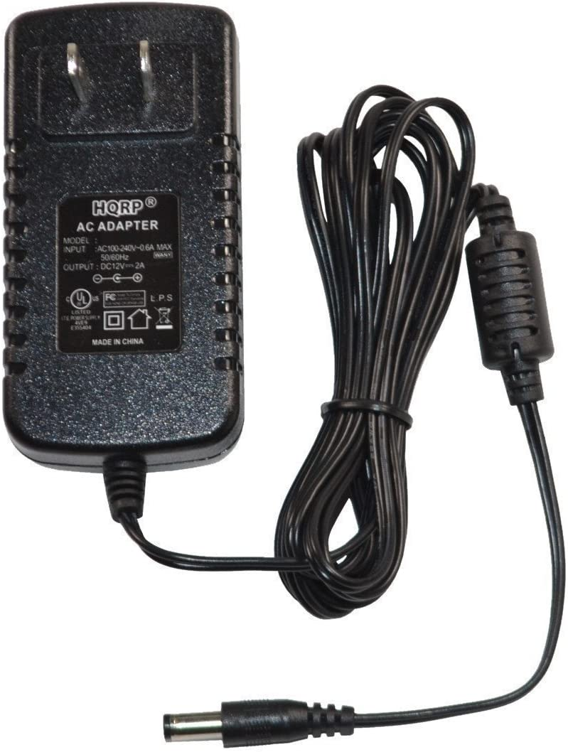 HQRP 12V AC Adapter Compatible with Uniden AD-70U AD-7019 BC-120XLT BC-220XLT BC-230XLT BC-235XLT BC-245XLT BC-250D Scanning Two-Way Radio Scanner SportCat Bearcat Charger AD70U AD7019