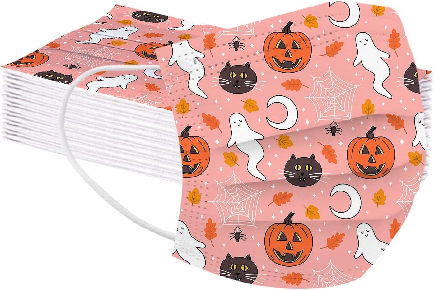 50 Cheap bargain Pcs Kids Disposable Face_Masks San Diego Mall Facemasks Printed f Halloween