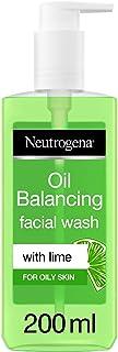 Neutrogena, Oil Balancing Facial Wash, Lime, For Oily Skin, 150ml
