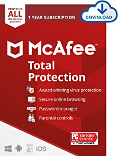 McAfee Total Protection 2021 Unlimited Devices, Antivirus Internet Security Software Password Manager, Parental Control, P...