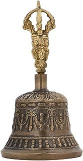 Spiritual Buddhist Tibetan Brass Bell with Dorje Handle For Self Healing Meditation Prayer Brass Tibetan Handbell Fengshui...