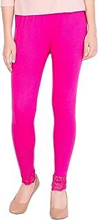 American-Elm Women's Ankle length Cotton Viscose Legging- Rani Pink