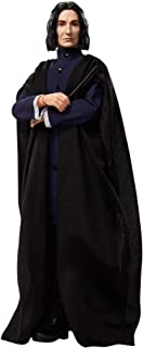 HARRY POTTER Collectible Severus Snape Doll (~12-inch) Wearing Black Coat Jacket and Wizard Robes, with Wand, Gift for 6 Year Olds and Up, Multi (GNR35)