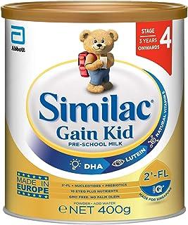 Abbott Similac Similac Gain Kid 2'-FL: Pre School Milk Powder for Kids - Stage 4 (3 years+) 400g