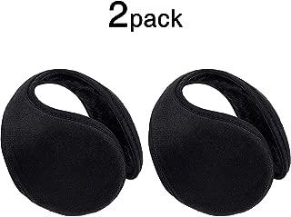 2 Packs Ear Warmer Black Fleece Earmuff Winter Accessory for Men Women