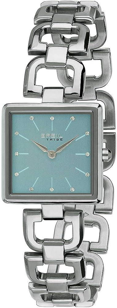 breil orologio donna acciaio frida tribe con cristalli azzurro