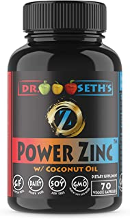 Premium Zinc Supplement in Organic Sunflower Oil & Coconut Oil – Zinc Picolinate ~70CT~ Zinc for Men & Women ~ Zinc 30 ~ Zinc Capsules ~ Zinc 30mg ~ Pure Zinc Pills ~ 2 Zinc Vitamin Zinc Supplements