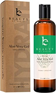 Aloe Vera Gel - Organic Aloe Vera Plant for After Sun Lotion, Pure Aloe Vera Gel for Sunburn Relief, Aloe Gel is Best for Face, Hair, Skin Soothing Gel for Burns, Rashes, Bites, Eczema (1 Bottle)