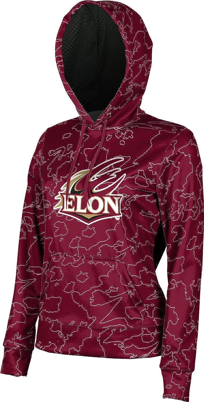 ProSphere Elon University Girls' Pullover Hoodie, School Spirit Sweatshirt (Topography)