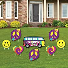 60's Hippie - Yard Sign & Outdoor Lawn Decorations - 1960s Groovy Party Yard Signs - Set of 8
