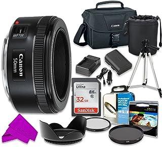 プロフェッショナルアクセサリーキットCanon EF 50mm f / 1.8STMレンズ& SanDisk 32GBクラス10メモリ+ Canon 100es Shoulder Bag for Canon EOS 7d Mark II、60d、70d、80d、6d、5d Mark IIIデジタル一眼レフカメラ