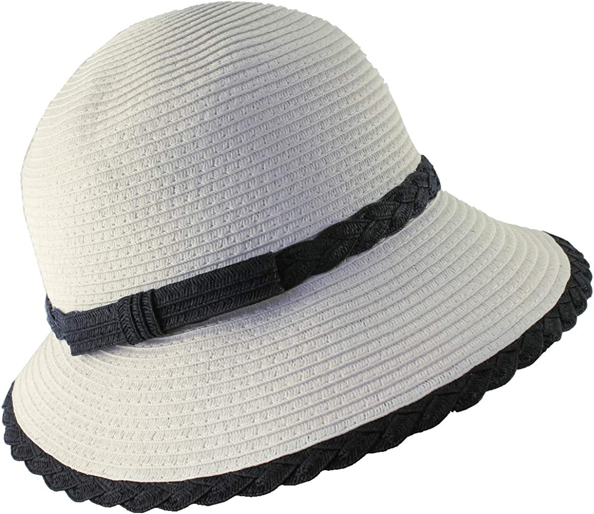 1920s Hat Styles for Women – History Beyond the Cloche Hat Hawkins Collection Cloche Straw Hat £14.99 AT vintagedancer.com