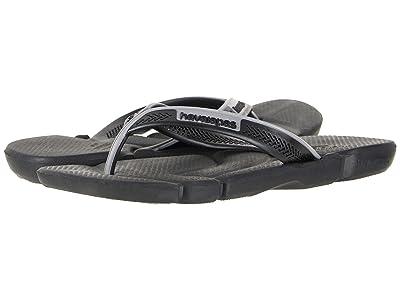 Havaianas Power Flip Flops (Black/Steel Grey) Men