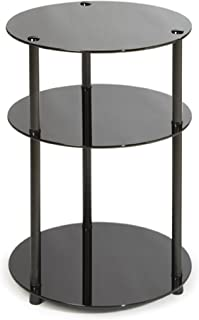 Amazon Com Black Glass End Tables Tables Home Kitchen
