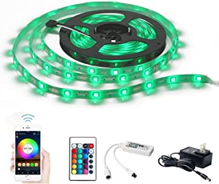 WiFi Smart LED Strip Lights, Smart Wireless APP Controlled Light Strip Kit, 16.4ft 150leds 5050 Waterproof IP65 LED Lights, Compatible with Alexa, Google Home, Widget, IFTTT and Siri Shortcut
