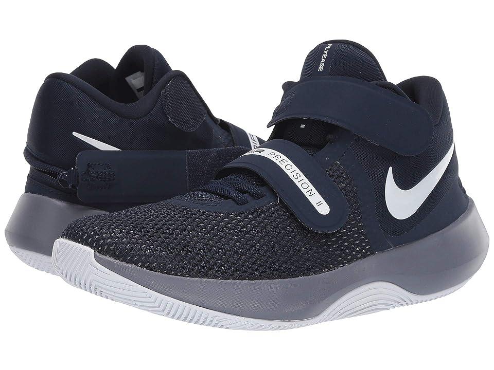 Nike Air Precision II FlyEase (Obsidian/White) Men