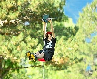 Atemou Zip Line Kit 120 Ft Zipline Kits for Backyard Kids Play Set Zipline with Seat Handles Ziplines for Backyards Ziplin...