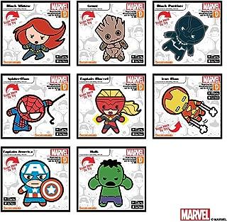 Marvel Avengers Set of 8 Kawaii Augmented Reality Vinyl Decal Bundle Black Widow, Captain America, Spider-Man, Groot, Captain Marvel, Hulk, Black Panther, Iron Man