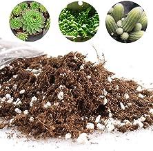 Yovvin Cactus - Mezcla de suelos suculentos, para jardín, para crecer o cactu, ahorro de agua con coco