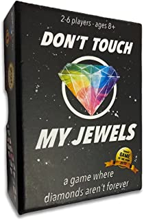 Don't Touch My Jewels - A Quick Strategic Card Game, Best for Adults, Families, Teens, Kids 8 years and up, and Couples. 2-6 players. Voted Best party game and card game. Hard Durable Box