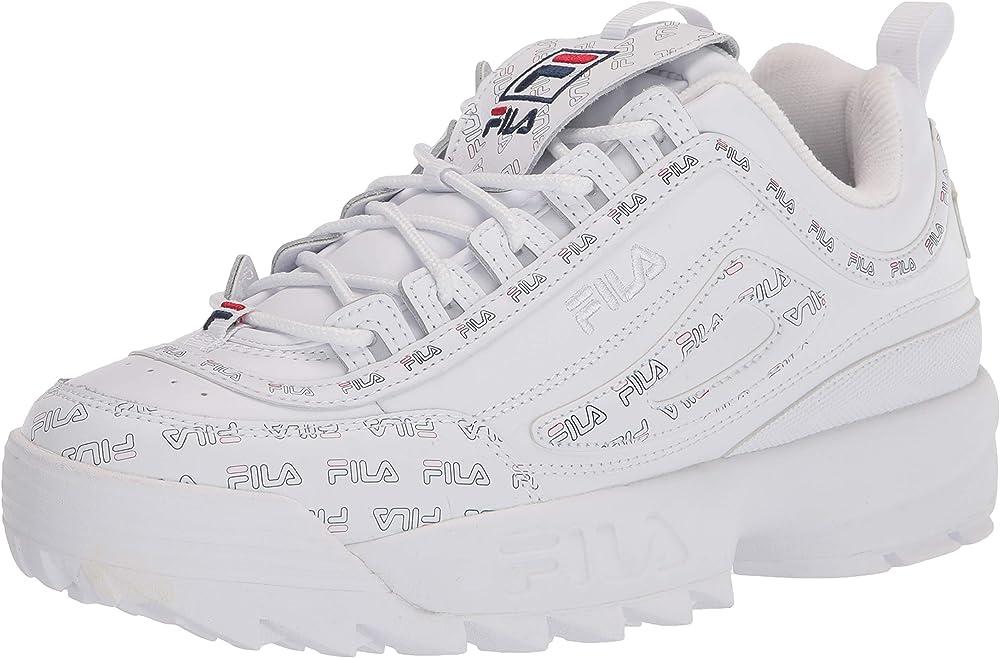 Fila womens disruptor 2 multiflag sneakers per donna in pelle 5FM00536