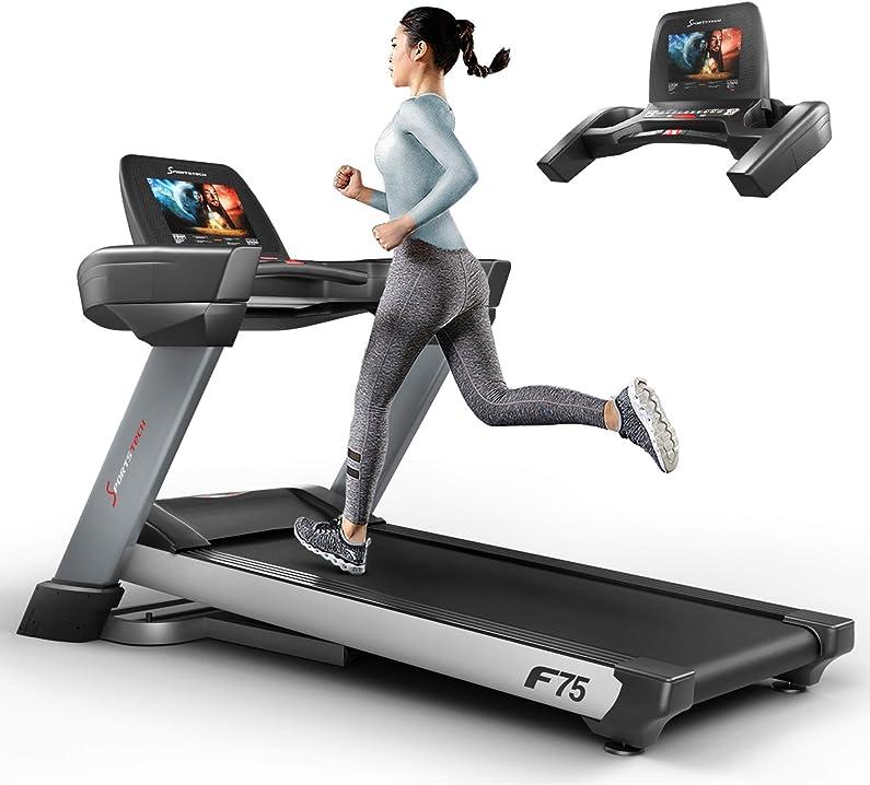 Tapis roulant con monitor - elettrico di ottima qualità ampia superficie di corsa 580x1600mm - sportstech f75 sp_f75_italien