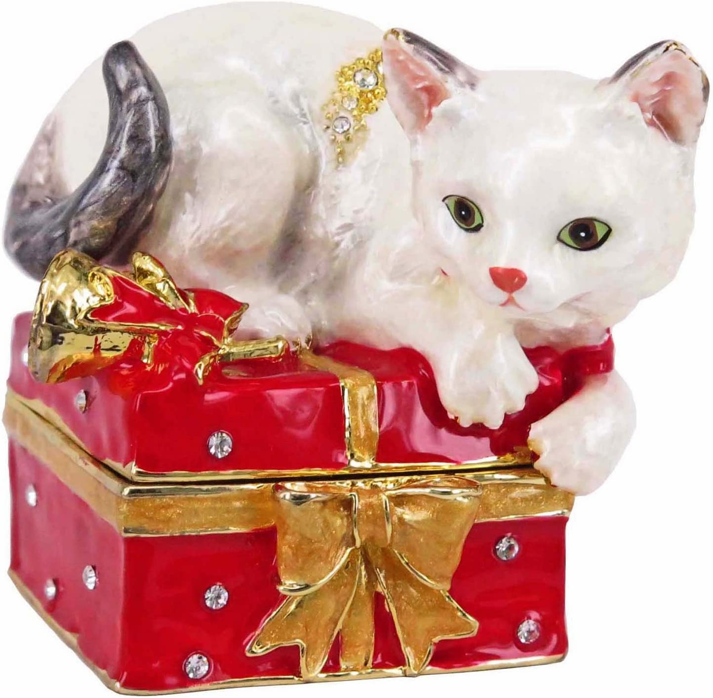 RUCINNI Kitty Jeweled Trinket Crystals 別倉庫からの配送 with スピード対応 全国送料無料 Box Swarovski