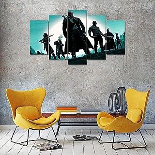 Yftnipl 5 Piezas Lienzo Poster Guardianes Galaxy Hd Arte De La Pared Impresa Decoración Dormitorio El Hogar Pintura De La Lona Foto