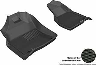 3D MAXpider Front Row Custom Fit All-Weather Floor Mat for Select Dodge Ram Models - Kagu Rubber (Black)