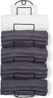 SODUKU Towel Rack Wall Mounted Metal Wine Rack Towel Shelf for Bathroom Bronze