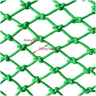 Children Fall Protection Safety Net BHH Restaurant Bar Ceiling Net Railing Safety Net Anti-fall Nylon Net Green Decorative Net Wear-resistant Anti-corrosion Child Pets Toys Stair Balcony Home Indoor
