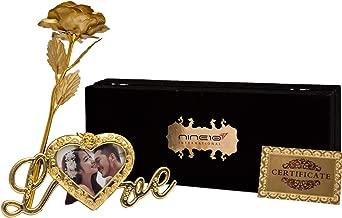 NINE10 Gold Rose 24K Gold Foil/Gold Plated Rose Box