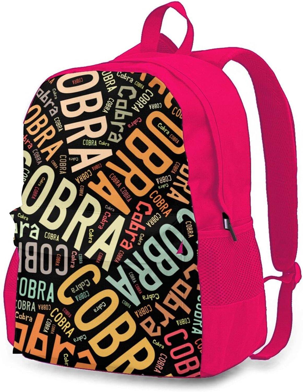Animal Name Cobra Travel overseas Daily bargain sale Laptop Backpack Work Adjustable Shoulde