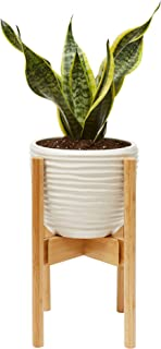 Wood Plant Pot Holder - Modern Planter Decor Holders Indoor - Living Room/Fireplace/Kitchen/Bedroom/Office - Stand for Plants/Flowers/Bamboo/Flower/Fig Tree/Fern/10inch Pot Decorative Floor Display