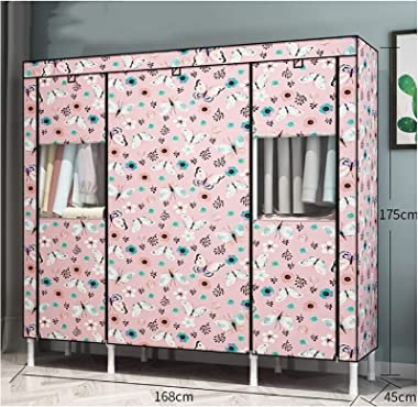TFJJSQA Special/Simple Wardrobe Convenient Portable Wardrobe for Hanging Clothes Bedroom Modular Resin Storage Wardrobe Close