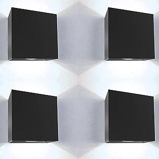 Applique murale exterieur led Kit 4 pieces 12W etanche IP65 avec jeu de pieces de rechange inclus lumiere blanche froide 6...