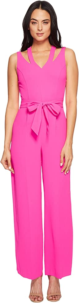 CeCe - Sleeveless Tie Waist V-Neck Jumpsuit
