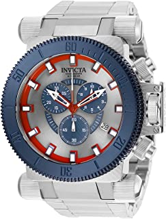 Invicta Men's Coalition Forces Quartz Watch with Stainless Steel Strap, Silver, 34.5 (Model: 27833)