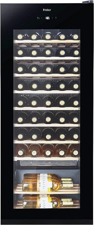Cantinetta vino 50 bottiglie, libera installazione, nero [classe di efficienza energetica g] haier ws50ga