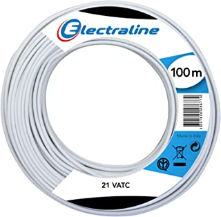 Electraline LMF901486775 Cable Crown 21 VATC 100 m White for Sat and TV Extension