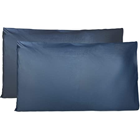 Taies d'oreiller 50 x 80 cm, Lot de 2 Housses Oreiller Rectangulaire en Pure Coton 100%, Protège Oreiller avec Fermeture à Enveloppe, fabriqué en Italie