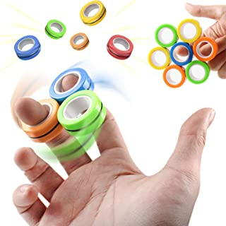 Magnetic Ring, Fidget Ring, Fidgets, Novelty Magnetic Blocks, Fidget Toys for Adults, Teens, Kids, Relieve Stress and Bore...
