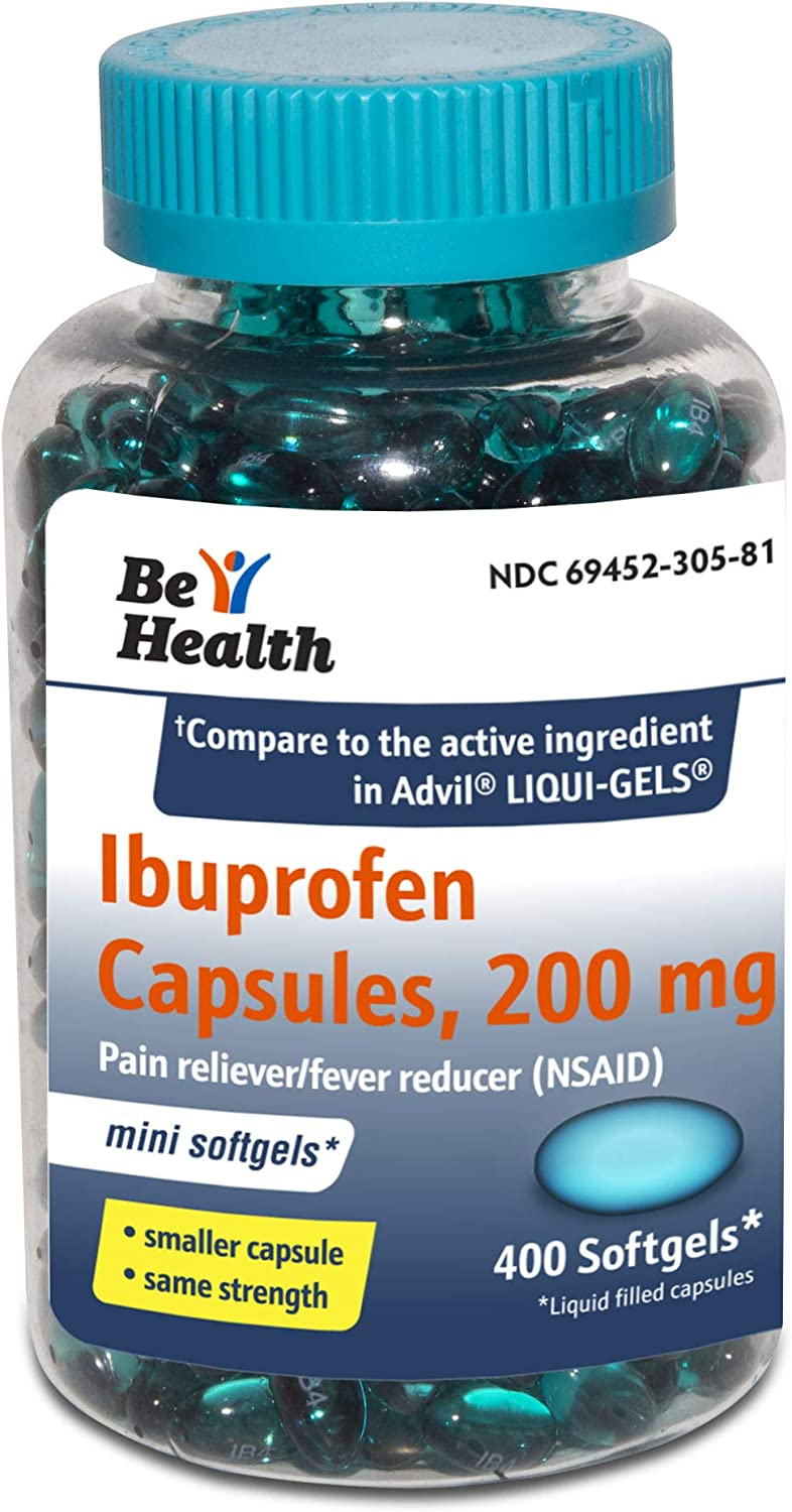 Outlet ☆ Free Shipping Be Health Mini Ibuprofen 200 Mg Softgels Max 55% OFF Pain Reliever Fever Re
