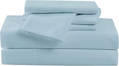 Cannon Solid Blue King 6 Piece Sheet Set