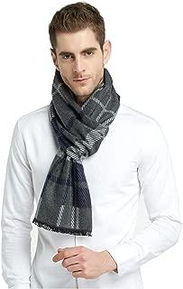 Brushed Warm Soft Cashmere Feel Men's Scarf Winter (Grey Saure)