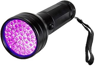 مصباح أشعة فوق بنفسجية باللون الأسود، 51 مصباح إضاءة LED، كشاف ضوء أسود للقطط والكشط والكشف عن البول