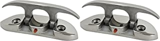 """Extreme Max 3006.6631.2 Folding Stainless Steel Cleat – 4-1/2"""", Value 2-Pack"""