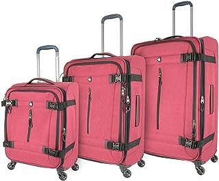 طقم حقائب السفر إيسكيا سوفت سايد سبينر M1135-03 قطعة، أحمر من ميا تورو, , احمر - M1135-03PC-RED